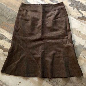 Ann Taylor wool blend skirt size 0